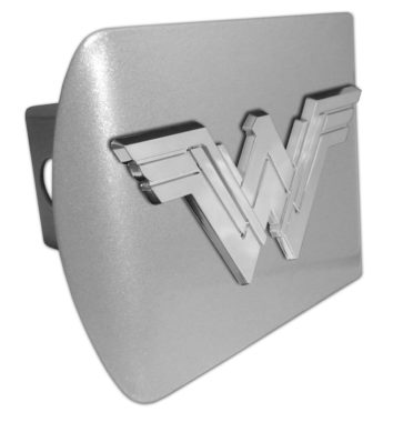 Wonder Woman Emblem on Brushed Hitch Cover