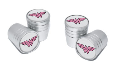 Wonder Woman Valve Stem Caps - Matte Smooth image