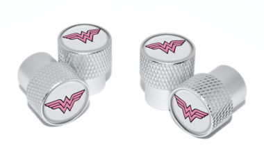 Wonder Woman Valve Stem Caps - Matte Knurling image