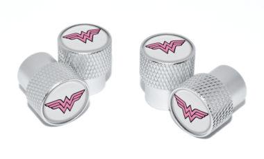 Wonder Woman Valve Stem Caps - Matte Knurling