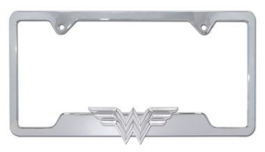 Wonder Woman 3D Chrome Open License Plate Frame image