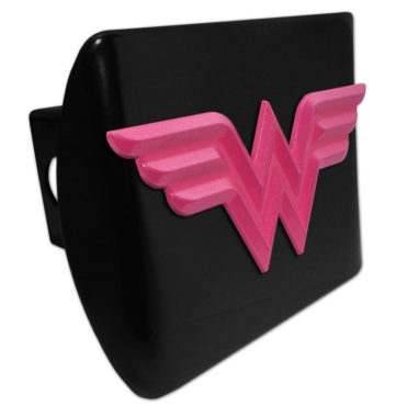 Wonder Woman Pink on Black Hitch Cover