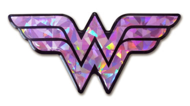Wonder Woman Pink 3D Reflective Decal image