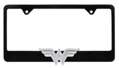 Wonder Woman 3D Black License Plate Frame