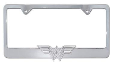 Wonder Woman 3D Chrome License Plate Frame