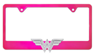 Wonder Woman Pink License Plate Frame image