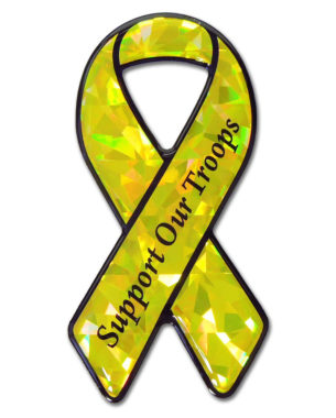 Support Our Troops 3D Reflective Decal image