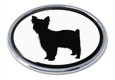 Yorkie White Chrome Emblem image