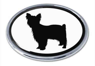 Yorkie White Chrome Emblem