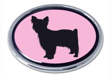 Yorkie Pink Chrome Emblem