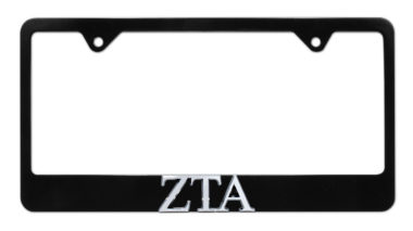 ZTA Black License Plate Frame