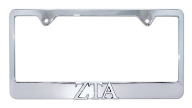 ZTA Chrome License Plate Frame
