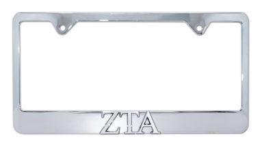 ZTA Chrome License Plate Frame image