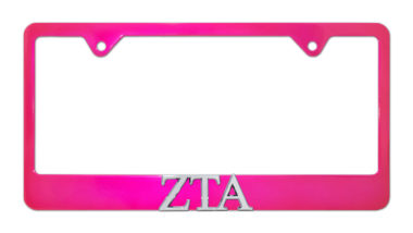 ZTA Pink License Plate Frame
