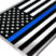 Premium Police Flag 3D Decal image 3