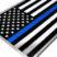 Premium Police Flag 3D Decal image 3