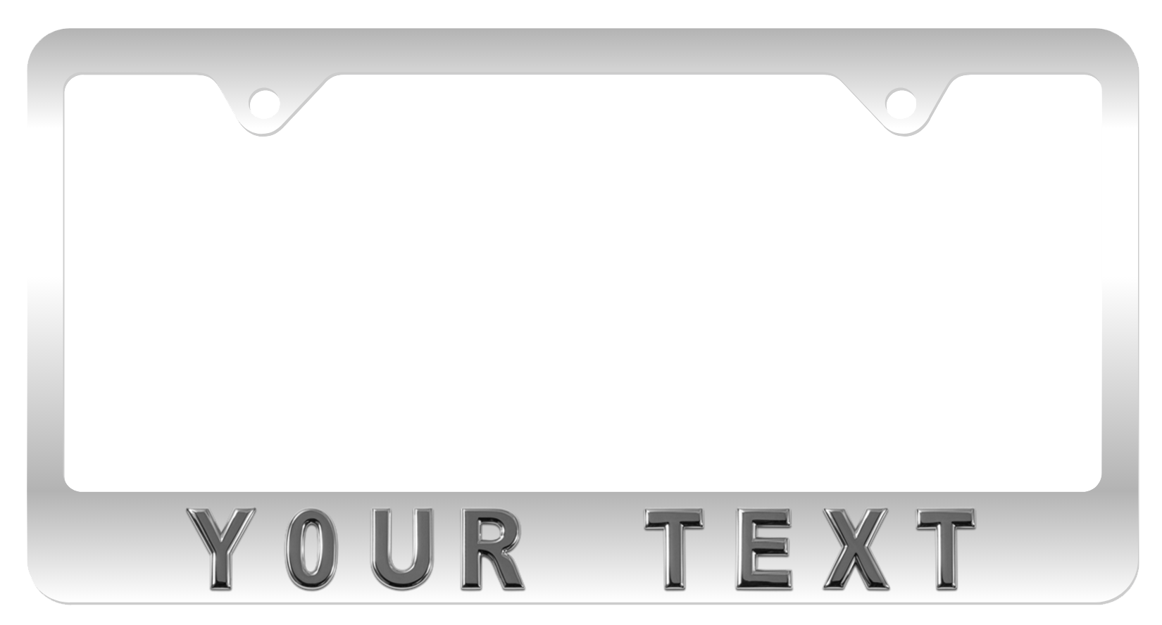 Personalize Your Own License Plate Frame